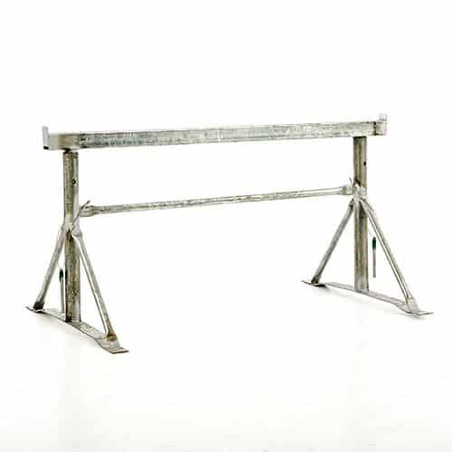 BAND STANDS MADE IN THE UK 2 x SIZE 1 ADJUSTABLE BUILDERS TRESTLES